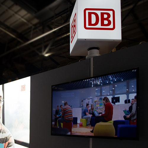 LUMIN6 Deutsche Bahn Cube Aufsatz MediaBar