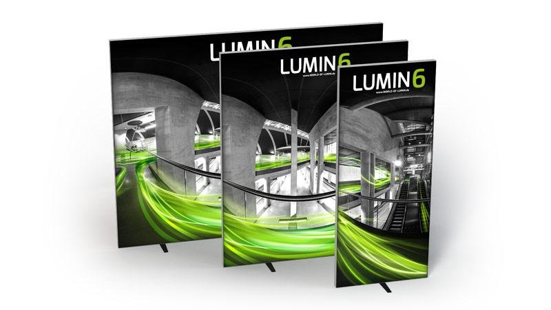 LUMIN 6 Variante Rahmen 1m 2m 3m freistehend