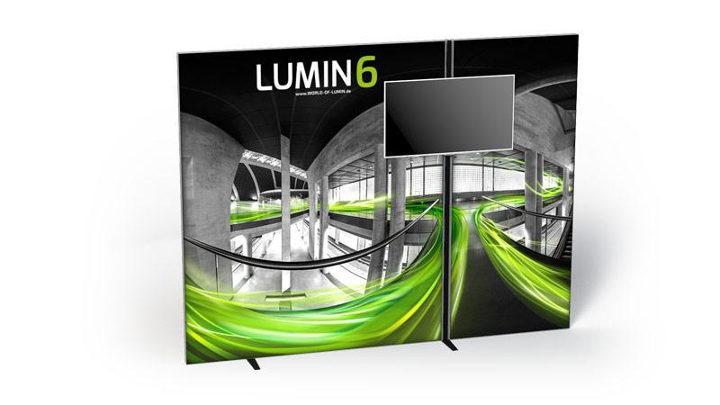 LUMIN6 Variante Rahmen 2m MediaBar und 1m