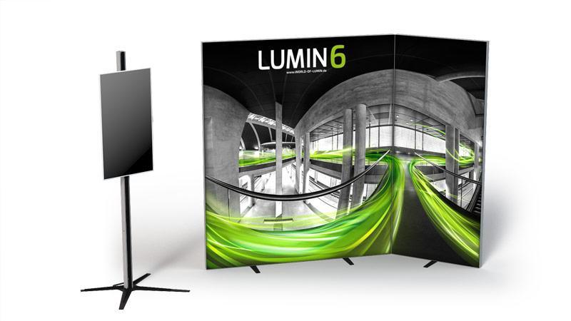 LUMIN6 Variante Rahmen MediaBar freistehend 2m 1m