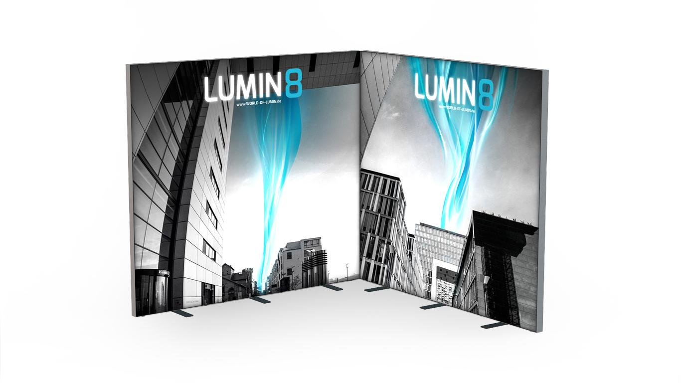 LUMIN8 Messestand 2m an 2m