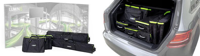 LUMIN6 Taschenkonzept - mobiler und einfacher Transport