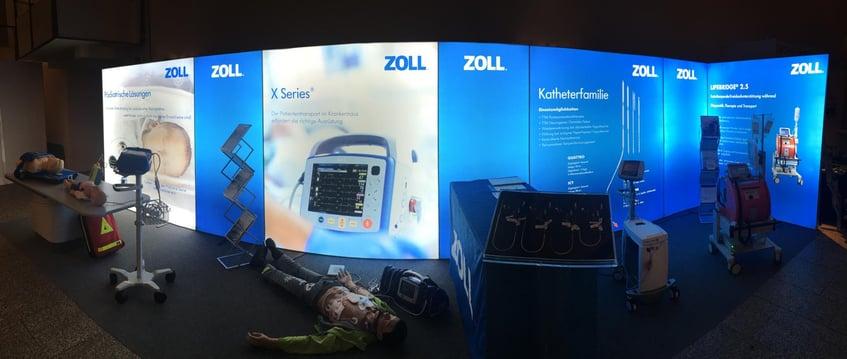 ZOLL Medical Deutschland GmbH LED Messewand