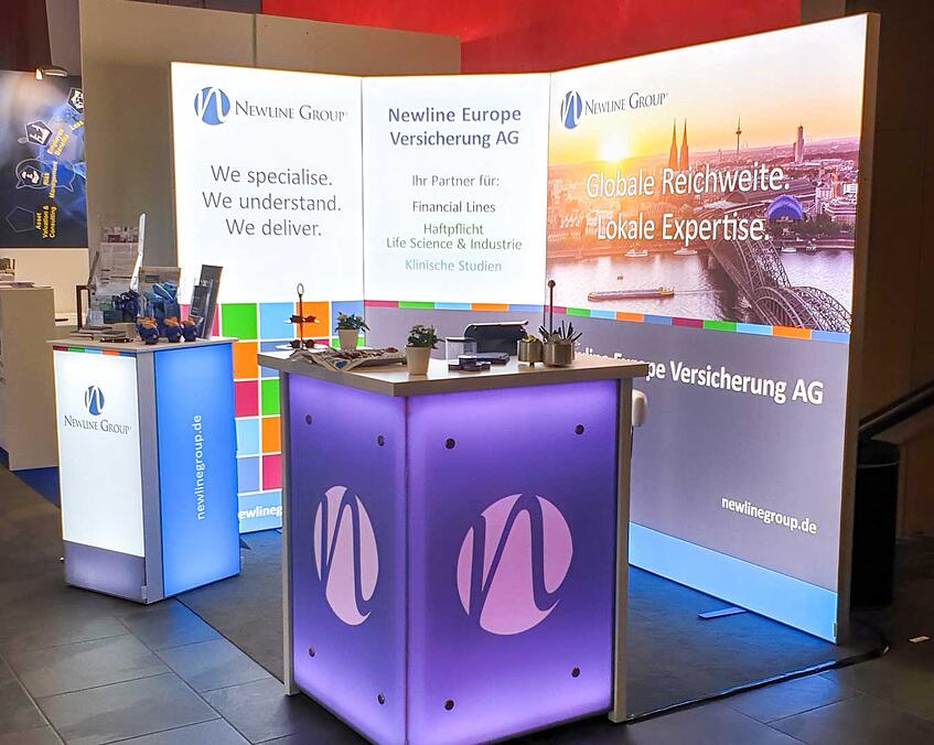 Newline Group Messestand LUMIN6