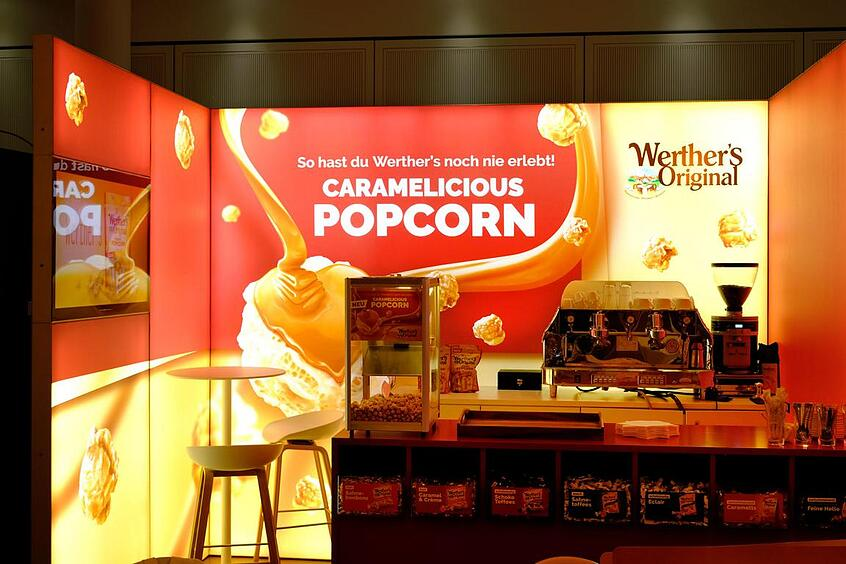 August Storck Werthers LED Messestand LUMIN8