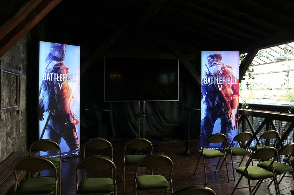 EA Producer Tour Battlefield V Paris LED Messestand LUMIN8