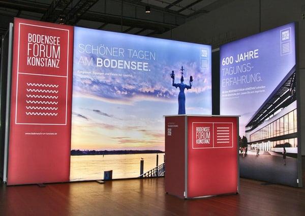 Bodensee Forum Konstanz LED Messestand LUMIN8