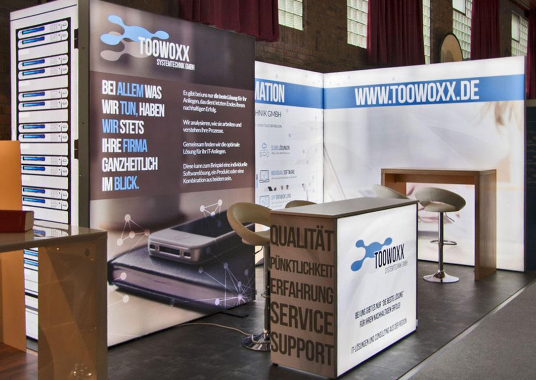 Toowoxx LED Messestand LUMIN8