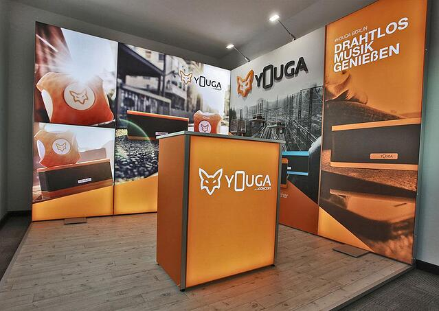 YOUGA LED Messestand LUMIN8