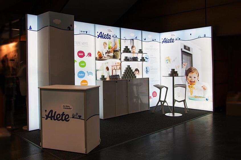 Alete LED Messestand LUMIN8