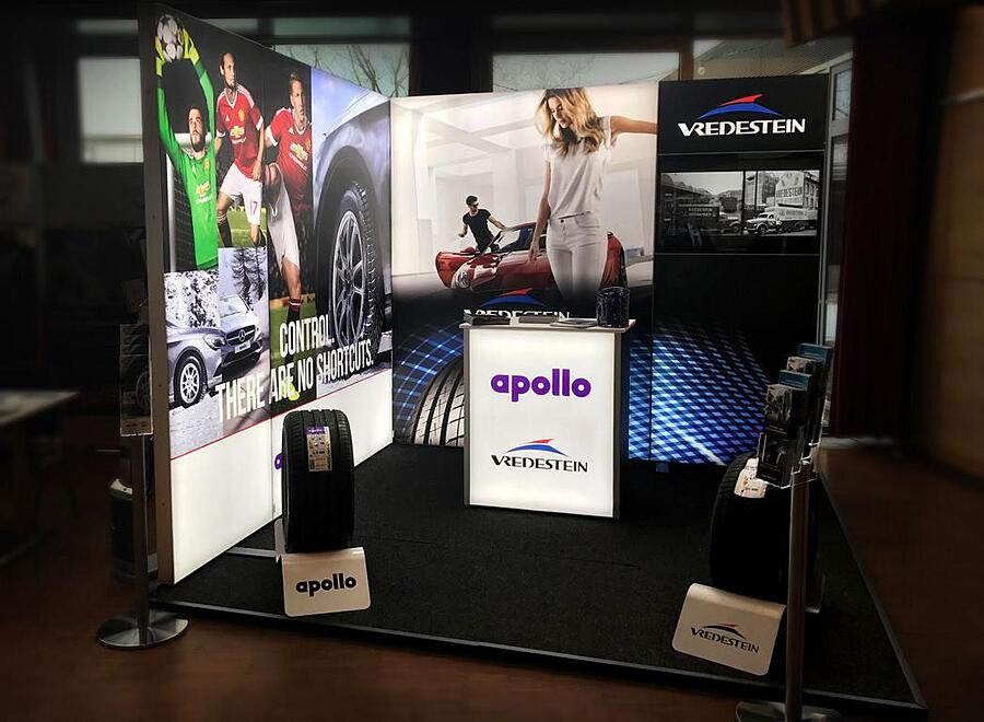 Apollo Vredenstein Messestand bis 12qm