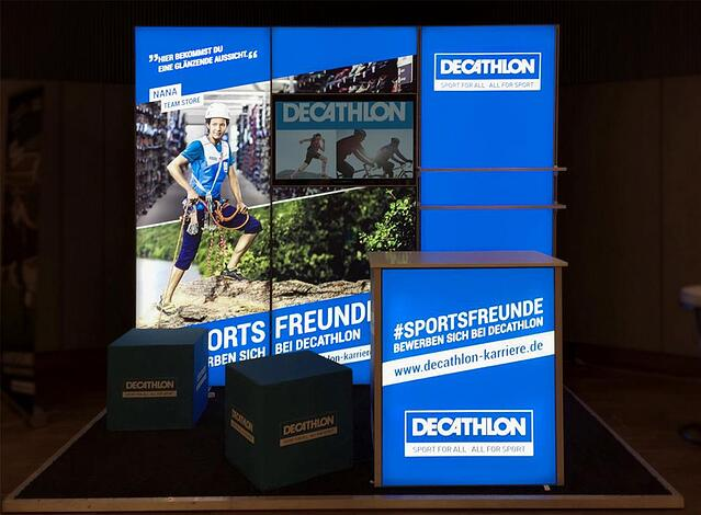 Decathlon Messestand bis 12qm