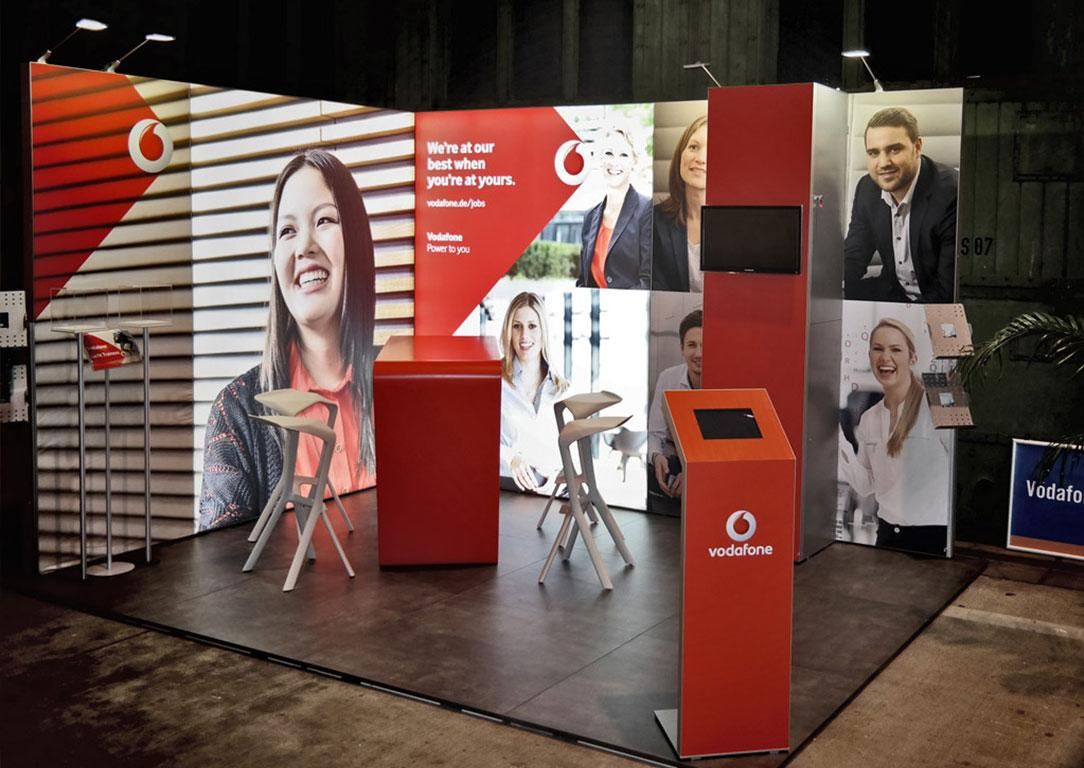 Vodafone Messestand bis 12qm