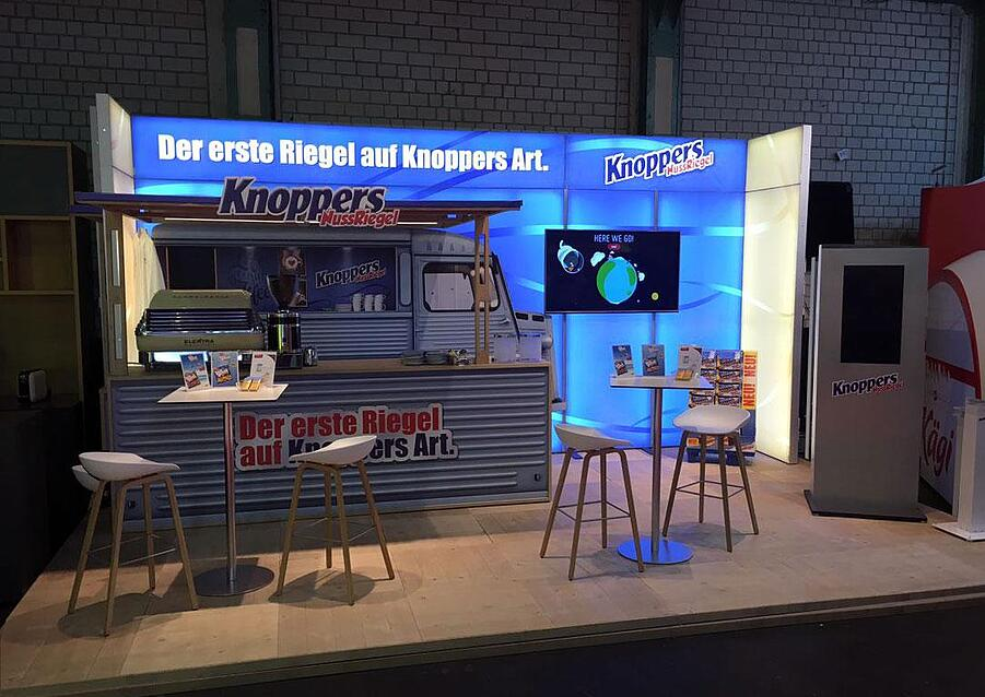 Knoppers Messestand bis 30qm