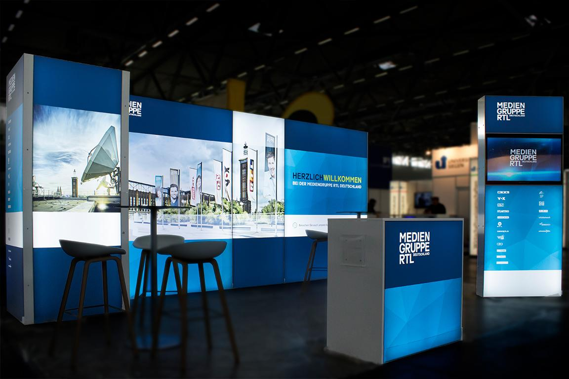 Mediengruppe RTL Messestand ab 30qm