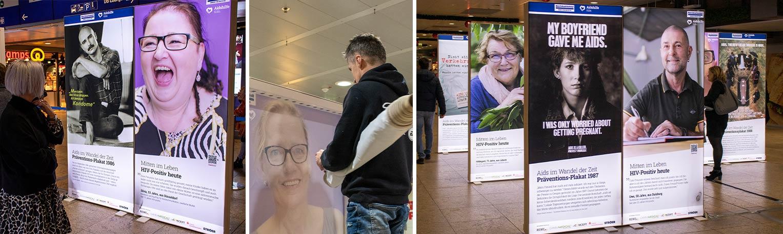 Aidshilfe Köln: Foto-Ausstellung im Hauptbahnhof