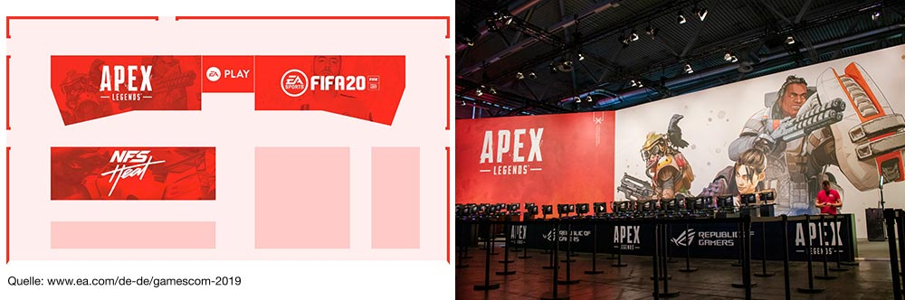 Gamescom 2019 Halle 6 mit Apex Legends