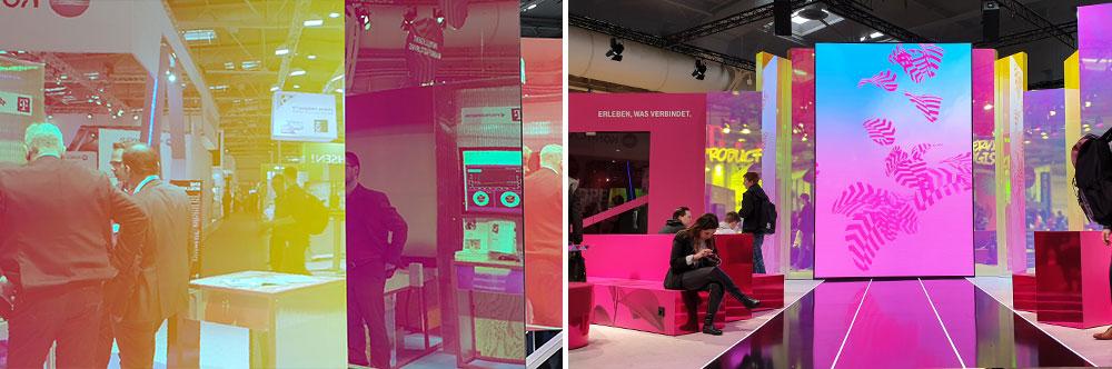Die Deutsche Telekom präsentiert einen modernen Messestand
