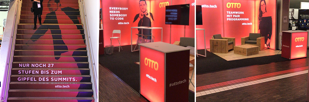 OTTOs LED-Messestand beim ITCS