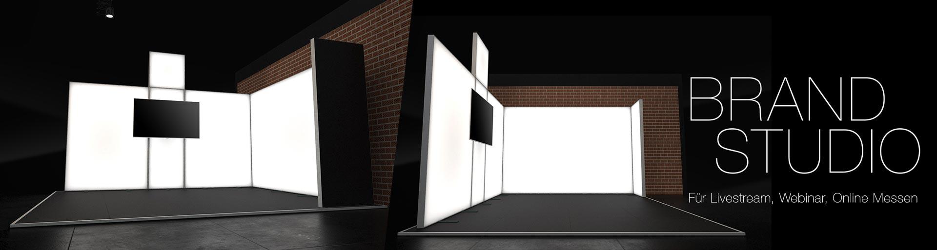 Brand Studio - Ihr Set für Webinare, Livestreams und Online Messen